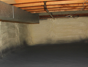 crawl space spray insulation for Louisana